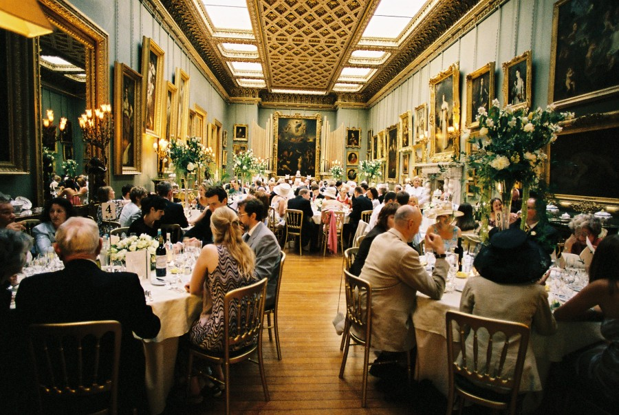 Stately Home Wedding Reception Somerley House