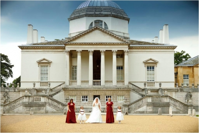 Bride and Bridesmaids Chiswick House London