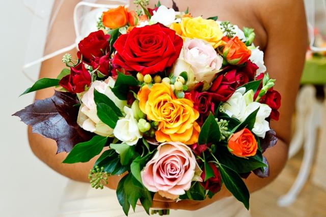 Bridal bouquet featuring summer flowers